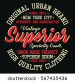 new york city superior denim ... | Shutterstock .eps vector #567435436