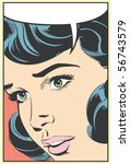 pop art vector illustration of... | Shutterstock .eps vector #56743579