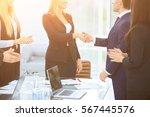 handshake of business partners...   Shutterstock . vector #567445576