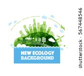 abstract ecology world... | Shutterstock .eps vector #567448546