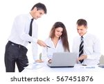 group of business people...   Shutterstock . vector #567451876