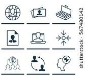 set of 9 business management... | Shutterstock .eps vector #567480142