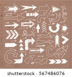 white doodle sketch arrows on... | Shutterstock .eps vector #567486076