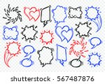 a set of comic bubbles and... | Shutterstock .eps vector #567487876