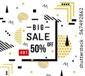 super sale modern banner in the ... | Shutterstock .eps vector #567492862