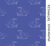vector sea ships silhouettes... | Shutterstock .eps vector #567494116