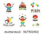 purim template design  jewish... | Shutterstock .eps vector #567502402