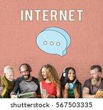 blog online social network... | Shutterstock . vector #567503335