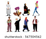 middle eastern people isolated... | Shutterstock . vector #567504562