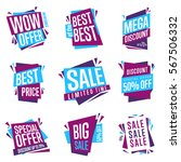 sale isolated banners set. best ... | Shutterstock . vector #567506332