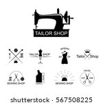 tailor shop icons or logotypes. ... | Shutterstock .eps vector #567508225