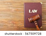 Judge Gavel And Law Book On...