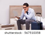 businessman working during... | Shutterstock . vector #567510358
