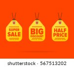 sale tag raster isolated. sale... | Shutterstock . vector #567513202