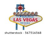 welcome to las vegas sign... | Shutterstock . vector #567516568