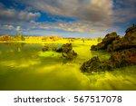 dallol volcano in danakil... | Shutterstock . vector #567517078