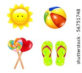 beach vector set from with... | Shutterstock .eps vector #56751748