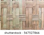 bamboo wall for background. | Shutterstock . vector #567527866