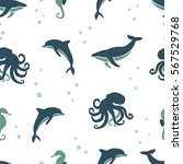 Seamless Sea Animals Pattern....