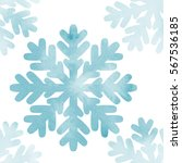 Watercolor Snowflakes Seamless...