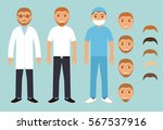 health worker men.set of... | Shutterstock .eps vector #567537916