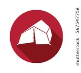 tent icon isolated vector sign...