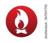 bonfire icon isolated vector...