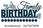 family birthday calendar with... | Shutterstock .eps vector #567547858
