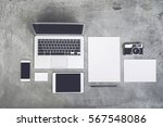 top view modern concrete... | Shutterstock . vector #567548086