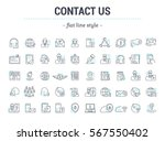 vector graphic set.icons in... | Shutterstock .eps vector #567550402