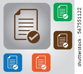 document vector icon. contract... | Shutterstock .eps vector #567551122