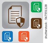 document vector icon. contract... | Shutterstock .eps vector #567551128