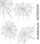 spider web stock illustration... | Shutterstock . vector #567552145