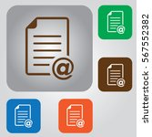 document vector icon. contract... | Shutterstock .eps vector #567552382