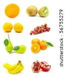 fruits on white background   Shutterstock . vector #56755279