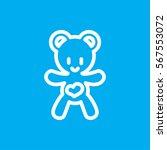 bear teddy icon illustration...   Shutterstock .eps vector #567553072