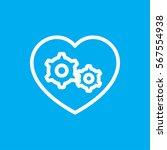 gear heart icon illustration... | Shutterstock .eps vector #567554938