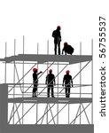 vector drawing of building... | Shutterstock .eps vector #56755537