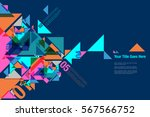 colourful fragment triangle... | Shutterstock .eps vector #567566752