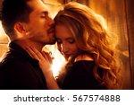 beautiful couple in love... | Shutterstock . vector #567574888