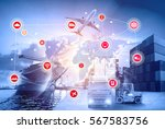 logistics and transportation of ... | Shutterstock . vector #567583756