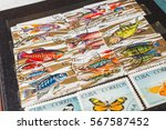 stamp collecting. philatelic.... | Shutterstock . vector #567587452