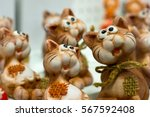 ceramic cats | Shutterstock . vector #567592408