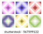 set of seamless vector patterns.... | Shutterstock .eps vector #567599122