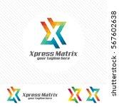colorful letter x logo design... | Shutterstock .eps vector #567602638