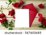 Love Letter Valentine  Rose An...
