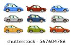 set of cars. collection vehicle.... | Shutterstock .eps vector #567604786