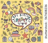 poster for the birthday... | Shutterstock .eps vector #567608236
