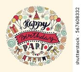 poster for the birthday... | Shutterstock .eps vector #567608332