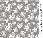 seamless vector pattern with... | Shutterstock .eps vector #567615076